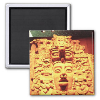 Detail from a temple wall with square magnet