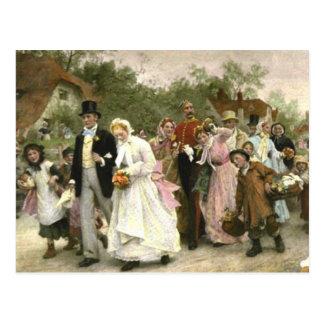 Detail from A Village Wedding by Luke Fildes Postcard