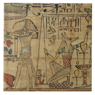 Detail from the papyrus of Nespakashuty, New Kingd Ceramic Tile