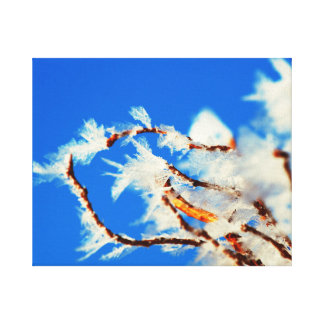 Detail image of frozen branch. canvas print