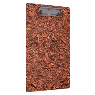 detail image of red cedar mulch for gardener clipboard