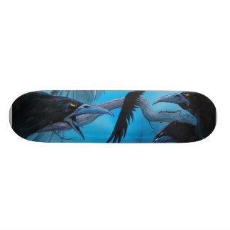 Detail of 13 Crows Skate Board Deck