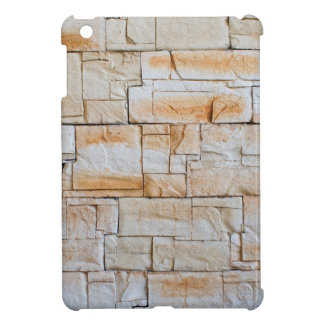 Detail of a decorative wall of limestone tiles iPad mini case