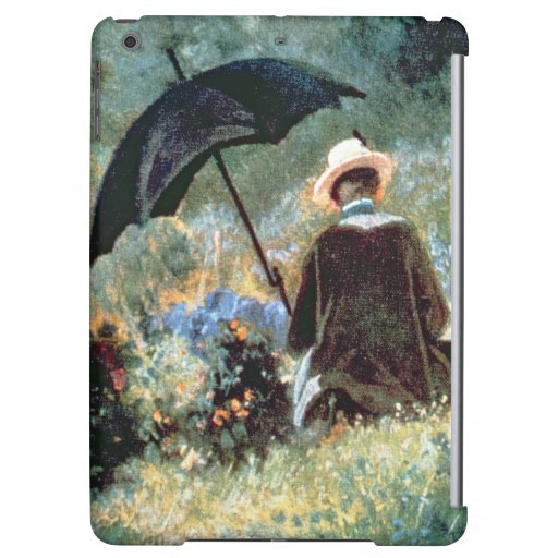 Detail of a Gentleman reading in a garden iPad Air Covers