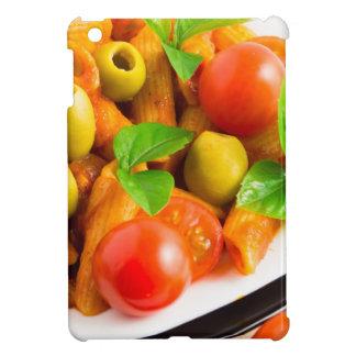 Detail of a plate closeup Italian pasta penne Cover For The iPad Mini