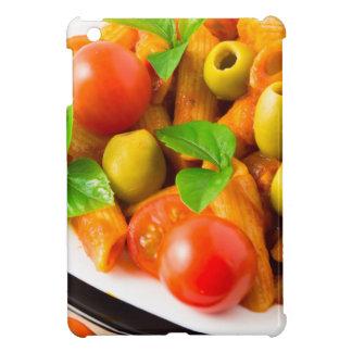 Detail of a plate closeup Italian pasta penne iPad Mini Cover