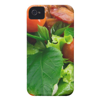 Detail of a plate with cherry tomatoes, herbs Case-Mate iPhone 4 cases
