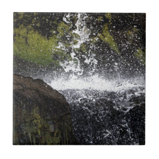 Detail of a small waterfall ceramic tile