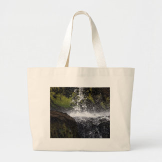 Detail of a small waterfall large tote bag