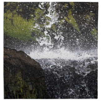 Detail of a small waterfall napkin