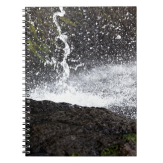 Detail of a small waterfall notebook