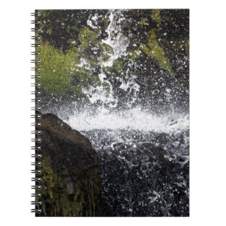 Detail of a small waterfall notebooks