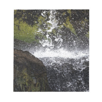 Detail of a small waterfall notepad