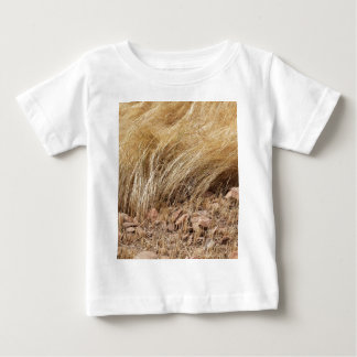 Detail of a teff field during harvest baby T-Shirt