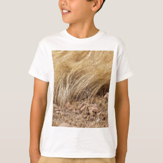 Detail of a teff field during harvest T-Shirt