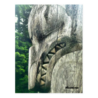 Detail of a totempole postcard