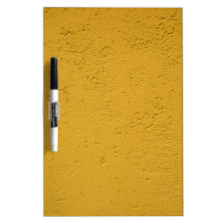 Detail of a wall of olive color dry erase whiteboards