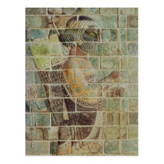 Detail of an archer from a frieze postcard