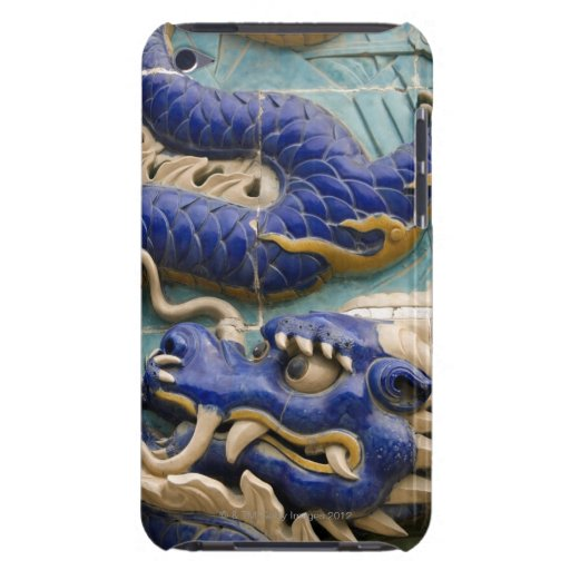 Detail of ceramic dragon on historic Nine Dragon iPod Case-Mate Cases