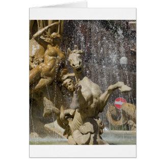 Detail of Fontana d'Artemide, Ortigia Card