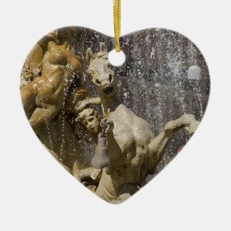 Detail of Fontana d'Artemide, Ortigia Ceramic Heart Decoration