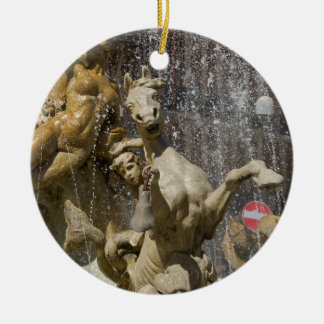Detail of Fontana d'Artemide, Ortigia Ceramic Ornament