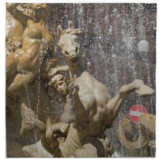 Detail of Fontana d'Artemide, Ortigia Napkin