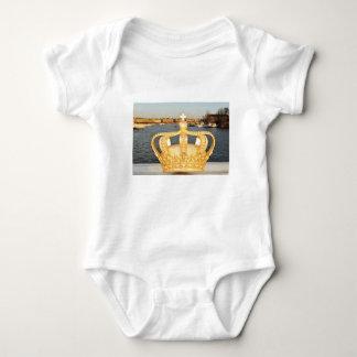 Detail of golden crown bridge in Stockholm, Sweden Baby Bodysuit