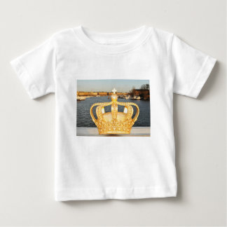 Detail of golden crown bridge in Stockholm, Sweden Baby T-Shirt