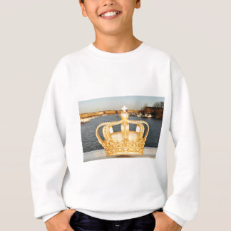 Detail of golden crown bridge in Stockholm, Sweden Sweatshirt
