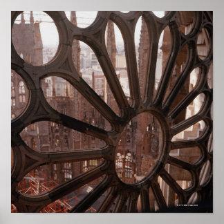Detail of La Sagrada Familia, Barcelona, Spain Posters