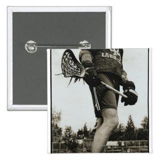 Detail of Lacrosse Athlete 15 Cm Square Badge