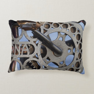 Detail of old bicycle pillow