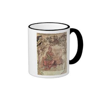 Detail of Orpheus charming the animals Ringer Mug