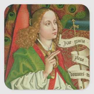 Detail of the Archangel Gabriel Square Sticker