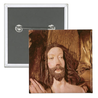 Detail of the Baptism of Christ 15 Cm Square Badge