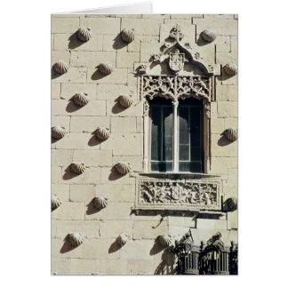 Detail of the exterior of the Casa de la Conchas Card