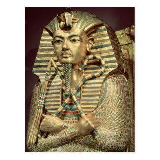 Detail of the second mummiform coffin postcard