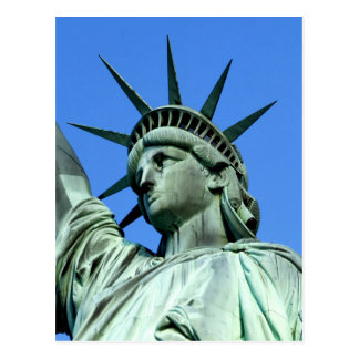 Detail of the Statue of Liberty's Head and Crown Postcard
