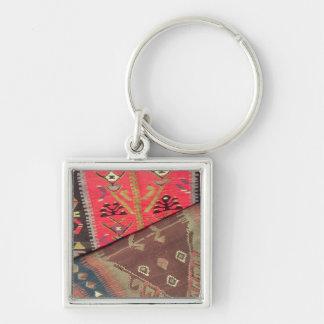Detail of two prayer rugs key ring