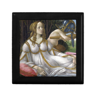 Detail of Venus, Venus and Mars by Botticelli Small Square Gift Box
