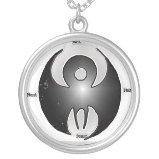 Detailed Archos  logo Round Pendant Necklace