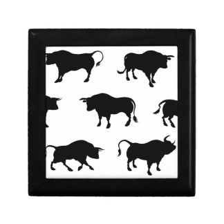 Detailed Bull Silhouettes Gift Box