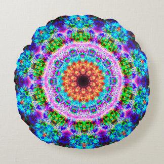 Detailed&Colorful Mandala Round Cushion