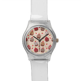Detailed Cupcake Pattern Watch