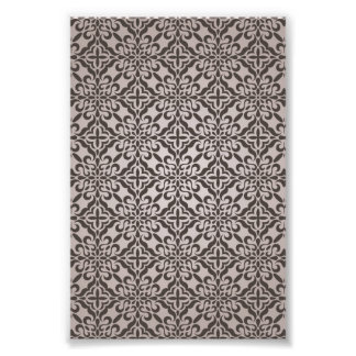 Detailed Floral Wallpaper Pattern Photo Print