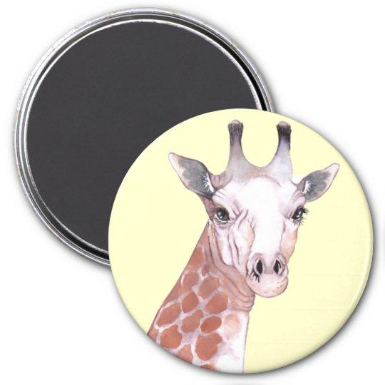 Detailed Giraffe Illustration Magnet