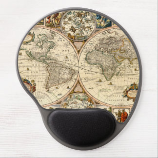Detailed Historic Map Gel Mouse Pad