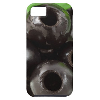 Detailed macro view of the black olives iPhone 5 case