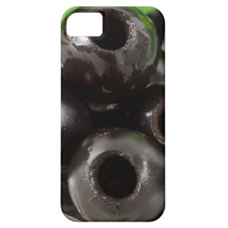Detailed macro view of the black olives iPhone 5 covers